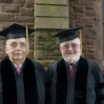 Dr. David J. Sencer '46 and Dr. Laurence H. Kedes '59 each received an honorary Bachelor of Arts degree.
