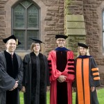 Mark Masselli, Jennifer J. Alexander '88, President Roth and Kari Weil.