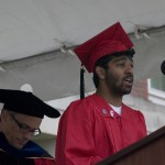 Ravid Chowdhury 09, president of the Wesleyan Senior Class.