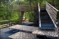 Wesleyan students built a bird-viewing platform for the Helen Carlson Wildlife Sanctuary in Portland, Conn. The architecture project, named SplitFrame, will be celebrated by a reception for the project at 2 p.m. Oct. 19 at the sanctuary.