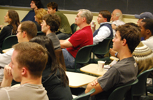 More than 70 students and faculty attended the colloquium.