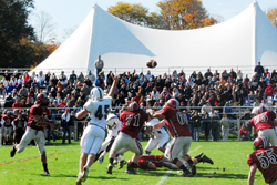 Wesleyan played rival Amherst in the Homecoming football game.