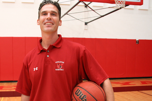 Joe Reilly is Wesleyan's new men's basketball coach. (Photo by Intisar Abioto '09)