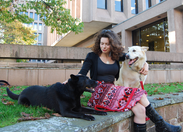 Dog-lover Laurenellen McCann '09 was an associate producer for a new TV series, Dogs 101, that debuted Oct. 11. 