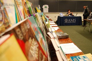 The American Mathematical Society held a book sale throughout the conference.