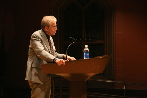 The Hugo L. Black Lecture on Freedom of Expression, endowed by a gift from Leonard S. Halpert, Esq., Class of 1944, and named in honor of the late U.S. Supreme Court Justice, was inaugurated in 1991–92. (Photos by Intisar Abioto '09)