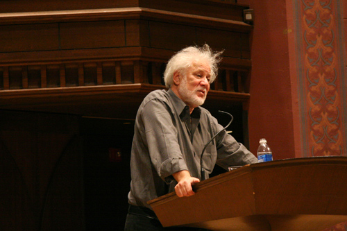 Ondaatje also presented a reading of his prose Nov. 5 in Memorial Chapel. Ondaatje's reading was followed by author's remarks, a question and answer session and a book signing.The event was open to the public.Ondaatje's visit is organized by the Wesleyan Writing Program and the Joan Jakobson Fund. The event is part of the 2008-09 Russell House Series of Distinguished Writers.