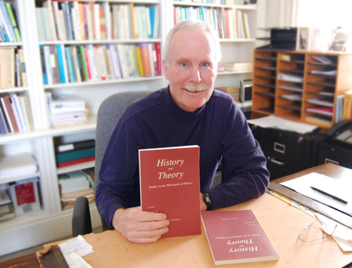 Brian Fay, the William Griffin Professor of Philosophy and tutor in the College of Social Studies, is the executive editor of the journal <i>History and Theory</i>. The publication is owned by Wesleyan and edited by faculty.