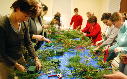 """Green Your Holiday"" was part of the CPP's First Friday series. The CPP hosts an event during the first Friday of every month for Wesleyan and Middletown communities who are interested in town-gown collaborations."