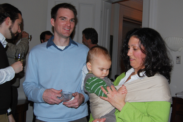 Seth Redfield, assistant professor of astronomy, attended the holiday gathering with his wife, Kaetahe, and son, Owen.