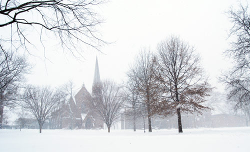 Memorial Chapel and College Row.