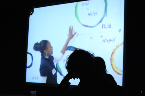 """Manjon showed a video presentation from worked on at California College of the Arts titled """"Crafting a Vision for Art, Equity and Civic Engagement."""""""