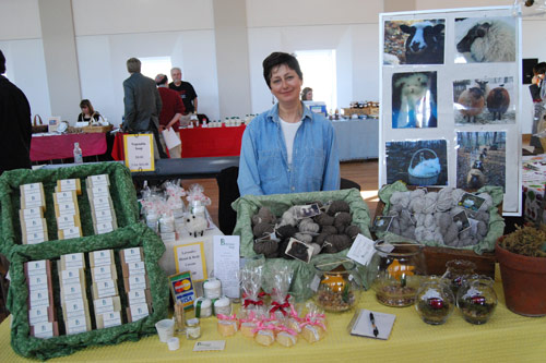 Rose Garbien manages the Bittersweet Harmony booth.