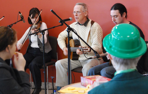 Celtic Melody, an Irish traditional music band, performed for Wesleyan faculty, staff and students March 13 inside the Usdan University Center in honor of St. Patrick's Day.