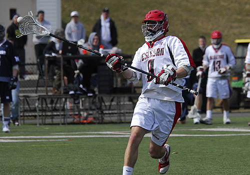 Long-pole middie Gabe Kelley '11 scooped up six ground balls during the game.