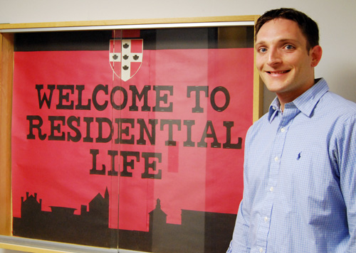 Brian Nangle is an area coordinator in Residential Life.