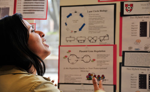 Molecular biology and biochemistry major Muna Nahar '09 researched gene regulation.