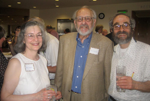 Wolfe's retirement reception guests included Professor Nancy Schwartz, professor of government; Victor Gourevitch, the William Griffin Professor of Philosophy, emeritus; and Allan Berlind, professor of biology, emeritus.