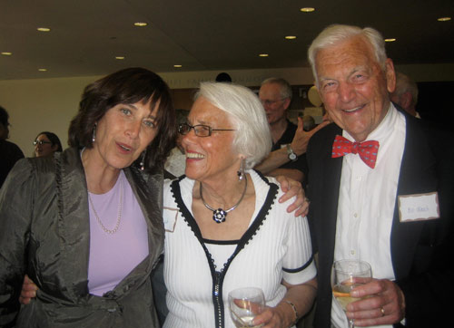 From left, Vera Schwartz, the Mansfield Freeman Professor of East Asian Studies, director of the Freeman Center for East Asian Studies, professor and chair of the East Asian Studies Program, mingles with Susan Wasch P'84 and Bill Wasch '52, P'84.