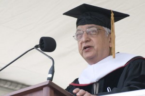 Azim Premji P '99 received a Doctor of Humane Letters during the ceremony.