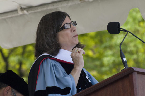 Anna Quindlen, P 07, led Commencement Address during the Weseleyan University Commencement Ceremony May 24.
