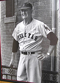 Norm Daniels coached Wesleyan baseball for 33 seasons.