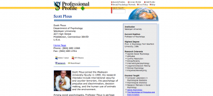 The SPN features professional profiles of some of its members.