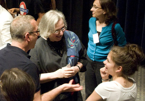 Pictured in center, Jeanine Basinger, the Corwin-Fuller Professor of Film Studies, curator of the Wesleyan Cinema Archives, chair of the Film Studies Department, was the Shasha Seminar's facilitator. 