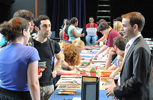 The Center for Creative Youth held a college fair inside the Patricelli '92 Theater July 27.