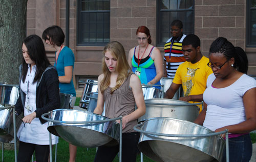 Center for Creative Youth (CCY) students enrolled in a music program performed a concert July 10 behind North College.