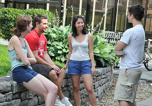 The Molecular Biology and Biochemistry Department hosted an Ice Cream Social July 27 near Woodhead Lounge. The department welcomed all students in the sciences and the Hughes Fellows.
