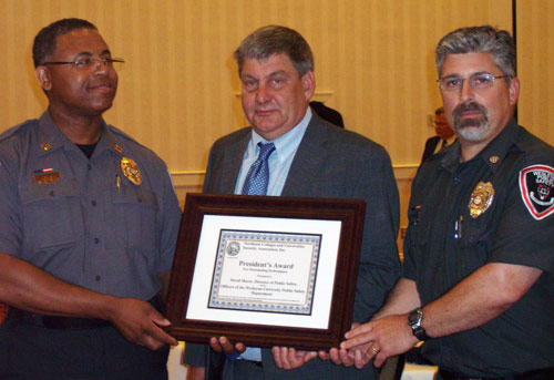 Wesleyan's Office of Public Safety received the NECUSA President's Award for Outstanding Service.