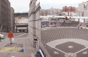 The Yankee Game-View Mirror would project home games onto the sidewalk.
