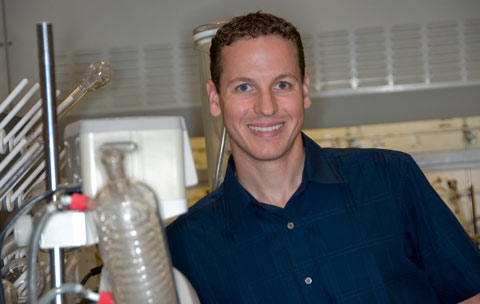 Brian Northrop, assistant professor of chemistry, will teach Principles of Chemistry in Fall 2009. (Photo by Bill Burkhart)