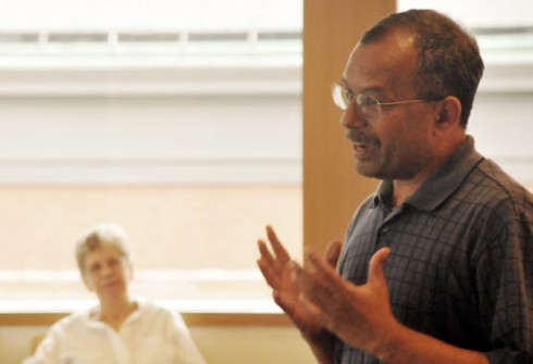 "Ganesan ""Ravi"" Ravishanker, associate vice president for Information Technology Services, adjunct associate professor of chemistry, was honored with a farewell celebration Aug. 13 in Daniel Family Commons. Ravishanker worked at Wesleyan 23 years."