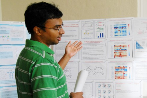 "Chemistry graduate student Sattanathan Paramasivan talks about his research titled ""A mix and measure fluorescence screening assay for the exploration of selective quadruplex binders."" Paramasivan's advisor is Philip Bolton, professor of chemistry."