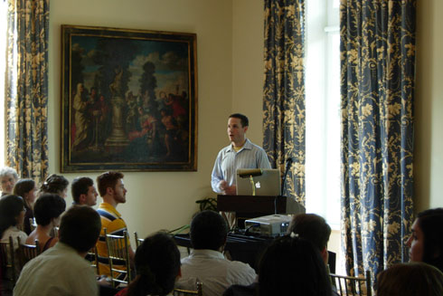 Northrop also delivered a talk during the retreat titled 'Dynamic self-assembly as a route to new organic materials.'