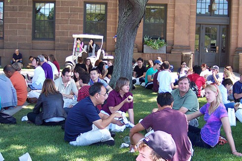 A Class of 2013 welcome picnic was held for new students and their families.