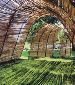 "Designed by 15 students enrolled in Architecture II, a research-design-build studio, the ""WesSukkah"" provides a sacred space that adheres to a complex, medieval Rabbinic building code."