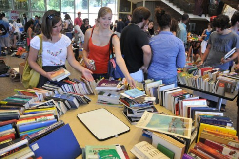 Wesleyan's Environmental Organizers Network hosted a Waste Not! tag sale Sept. 5-7 inside the former Moconaughy Dining Hall.