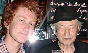 Draper spent a week with avant garde filmmaker Jonas Mekas in Paris.