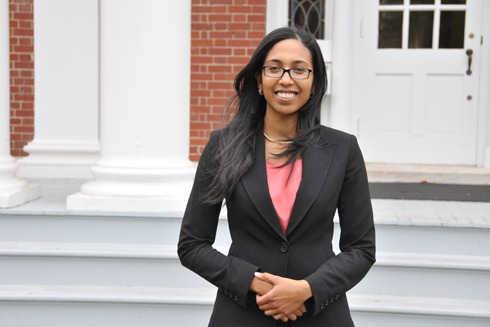 Leah Wright, assistant professor of history, assistant professor of African American studies, is an expert on United States history, African American studies and American politics. (Photo by Stefan Weinberger '10)