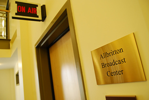 The new Allbritton Broadcast Center is located on the second floor.
