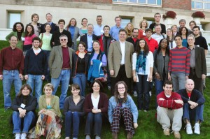 Alumni who are parents and grandparents of current first-year students gathered on Denison Terrace for a legacy photograph Nov. 8.