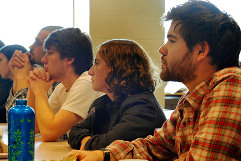 More than 100 students and faculty attended Zeilinga de Boer's talk.