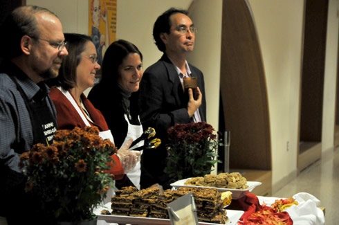 Wesleyan staff members served students a traditional Thanksgiving Day dinner Nov. 19 in the Usdan University Center Marketplace.