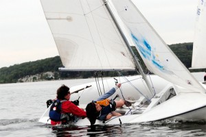 "The Wesleyan Sailing Club begins the 2010 season with a non-collegial ""Frostbite Race"" on Boston Harbor Jan. 1."
