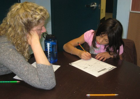 AfterSchool Program students received help with their homework.