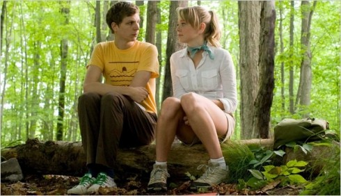 Michael Cera and Portia Doubleday in Youth in Revolt, directed by Miguel Arteta '88. (Bruce Birmelin/Dimension Films)