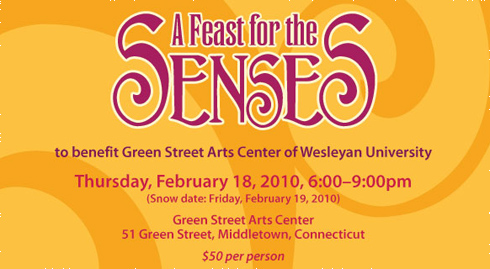 "Proceeds from ""A Feast for the Senses"" on Feb. 18 will benefit the Green Street Art Center's AfterSchool Arts and Science Program and the GSAC Scholarship Fund."